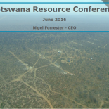Botswana Resource Conference Presentation 15 June 2016